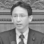 質問する塩川鉄也議員=4月11日、衆院本会議