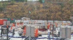 凍土壁実証試験の装置=5月19日、福島第1原発