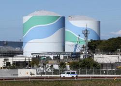 再稼働がねらわれている九州電力川内原発=鹿児島県薩摩川内市