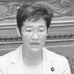 (写真)質問する倉林明子議員=5月30日、参院本会議