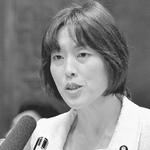 (写真)質問する田村智子議員=5月23日、参院震災復興特