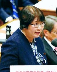 (写真)質問する高橋千鶴子議員=10月12日、衆院予算委
