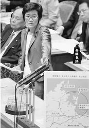 (写真)質問する倉林明子議員=10月13日、参院予算委