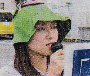 「福島を忘れないで」と訴える堂脇さん=須賀川市